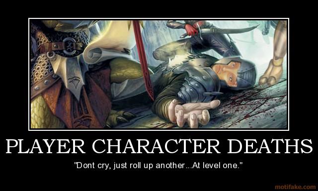 Mort des personnages